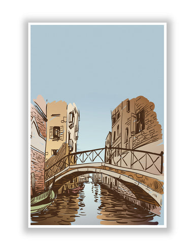 Buy Quirky Posters Online | Venice City Digital Art Illustration Poster | PosterGuy.in