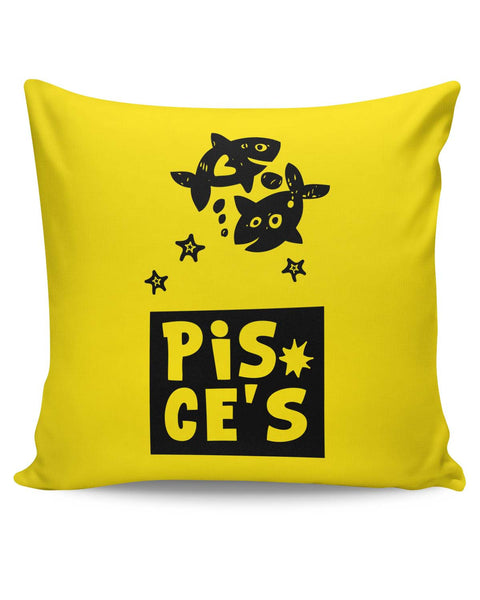 PosterGuy | Pisces Blue Zodiac Sign Gifts Cushion Cover Online India