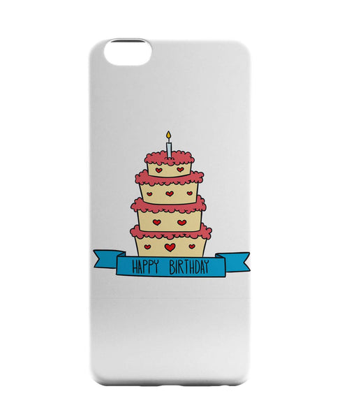 iPhone 6 Case & iPhone 6S Case | Happy Bithday Cake Illustration iPhone 6 | iPhone 6S Case Online India | PosterGuy