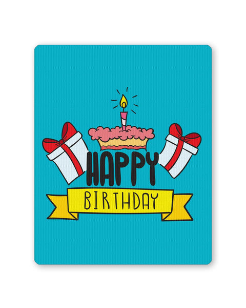 Mouse Pads | Happy Birthday Gift And Cake Illustration Mouse Pad Online India | PosterGuy.in