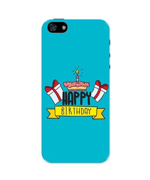 Happy Birthday Gift And Cake Illustration iPhone 5 / 5S Case