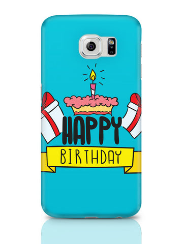 Samsung Galaxy S6 Covers & Cases | Happy Birthday Gift And Cake Illustration Samsung Galaxy S6 Covers & Cases Online India