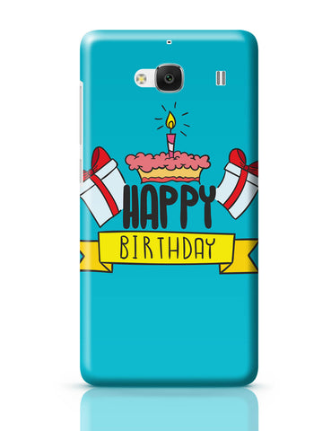 Xiaomi Redmi 2 / Redmi 2 Prime Cover| Happy Birthday Gift And Cake Illustration Redmi 2 / Redmi 2 Prime Online India