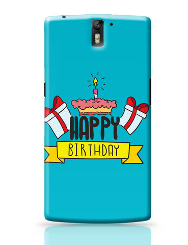 OnePlus One Covers | Happy Birthday Gift And Cake Illustration OnePlus One Covers Online India
