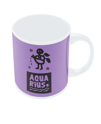 Aquarius Dark Purple | Zodiac Sign Gifts  Coffee Mug Online India