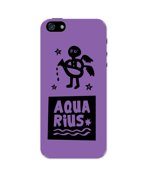 Aquarius Dark Purple | Zodiac Sign Gifts  iPhone 5 / 5S Case