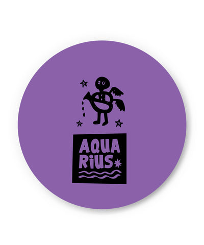 Aquarius Dark Purple | Zodiac Sign Gifts  Fridge Magnet Online India