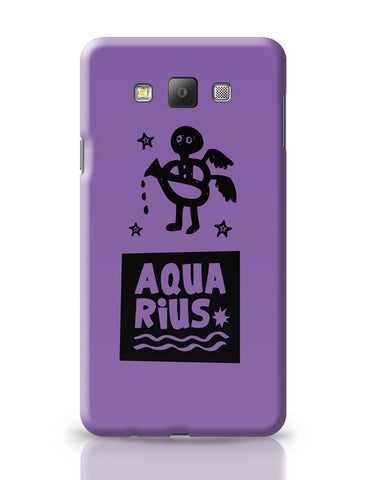 Samsung Galaxy A7 Covers | Aquarius Dark Purple | Zodiac Sign Gifts Samsung Galaxy A7 Covers Online India