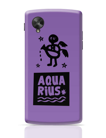 Google Nexus 5 Covers | Aquarius Dark Purple | Zodiac Sign Gifts Google Nexus 5 Cover Online India