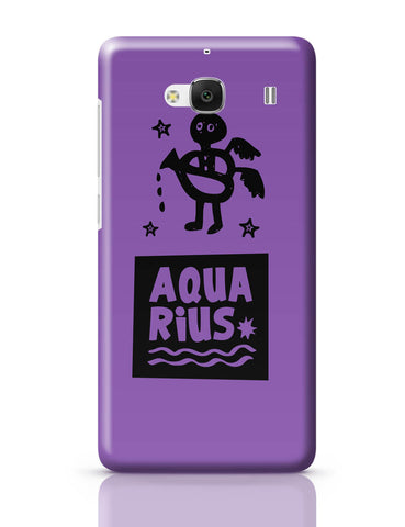Xiaomi Redmi 2 / Redmi 2 Prime Cover| Aquarius Dark Purple | Zodiac Sign Gifts Redmi 2 / Redmi 2 Prime Online India