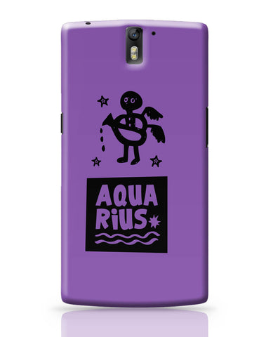 OnePlus One Covers | Aquarius Dark Purple | Zodiac Sign Gifts OnePlus One Covers Online India