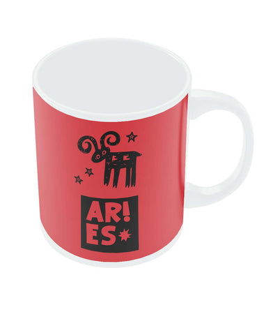 Aries Red | Zodiac Sign Gifts  Coffee Mug Online India
