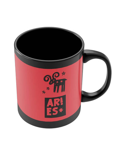 Black Coffee Mugs | Aries Red | Zodiac Sign Gifts Black Coffee Mug Online India