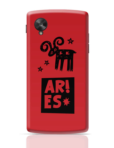 Google Nexus 5 Covers | Aries Red | Zodiac Sign Gifts Google Nexus 5 Cover Online India