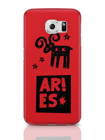 Samsung Galaxy S6 Covers & Cases | Aries Red | Zodiac Sign Gifts Samsung Galaxy S6 Covers & Cases Online India