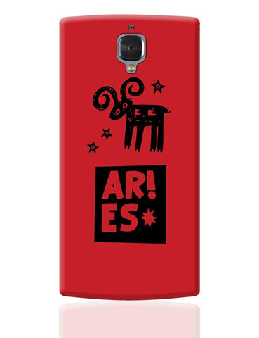 Aries Red | Zodiac Sign Gifts  OnePlus 3 Cover Online India