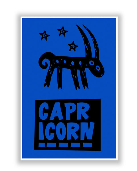 Buy Posters Online | Capricorn Dark Blue | Zodiac Sign Gifts  Poster | PosterGuy.in