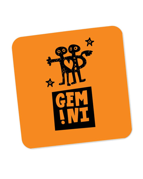 Gemini Orange | Zodiac Sign Gifts  Coaster Online India