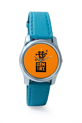 Women Wrist Watches India | Gemini Orange | Zodiac Sign Gifts  Wrist Watch Online India