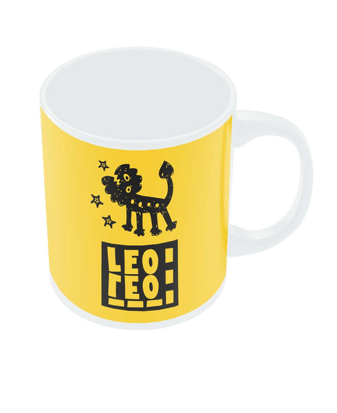 Leo Yellow | Zodiac Sign Gifts  Coffee Mug Online India