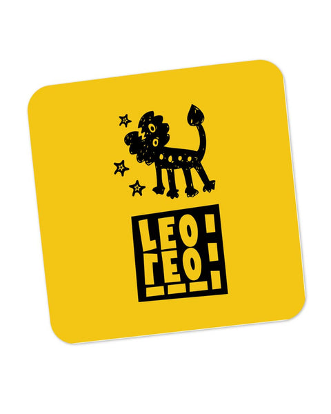 Leo Yellow | Zodiac Sign Gifts  Coaster Online India