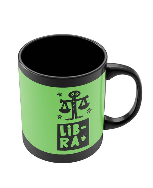 Black Coffee Mugs | Libra Green | Zodiac Sign Gifts Black Coffee Mug Online India