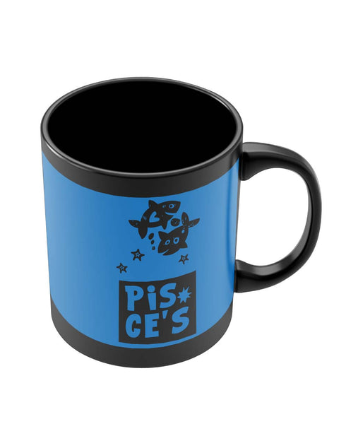 Black Coffee Mugs | Pisces Blue | Zodiac Sign Gifts Black Coffee Mug Online India