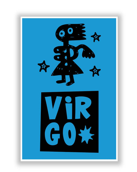 Buy Posters Online | Virgo Blue | Zodiac Sign Gifts  Poster | PosterGuy.in
