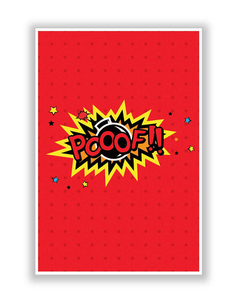 Buy Comic Posters Online | Pooof Comic Sound Quirky Illustration Poster | PosterGuy.in