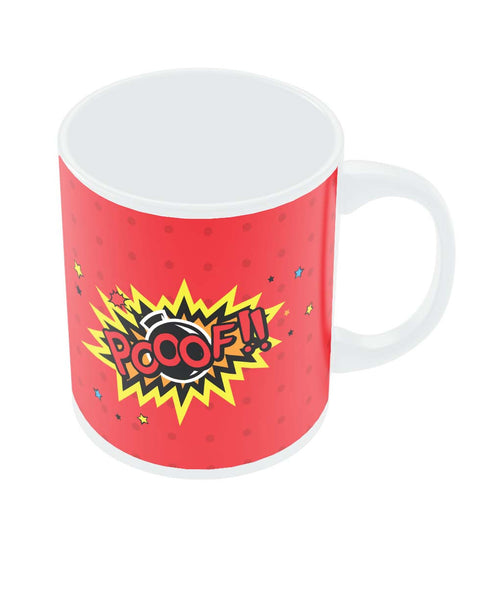 Pooof Comic Sound Quirky Illustration Coffee Mug Online India
