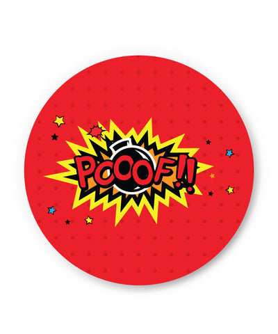 Pooof Comic Sound Quirky Illustration Fridge Magnet Online India