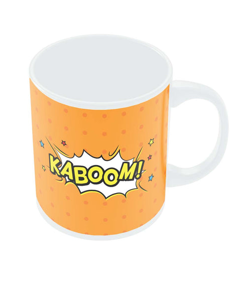 Kaboom Comic Sound Quirky Illustration Coffee Mug Online India