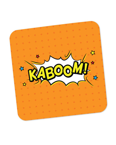 Kaboom Comic Sound Quirky Illustration Coaster Online India