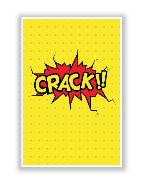 Buy Comic Posters Online | Crack Comic Sound Quirky Illustration Poster | PosterGuy.in