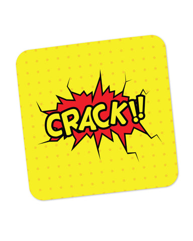 Crack Comic Sound Quirky Illustration Coaster Online India