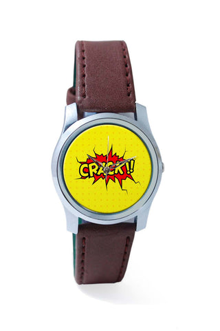 Women Wrist Watches India | Crack Comic Sound Quirky Illustration Wrist Watch Online India
