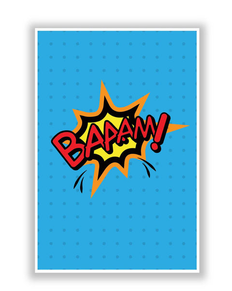 Buy Comic Posters Online | Baaam Comic Sound Quirky Illustration Poster | PosterGuy.in
