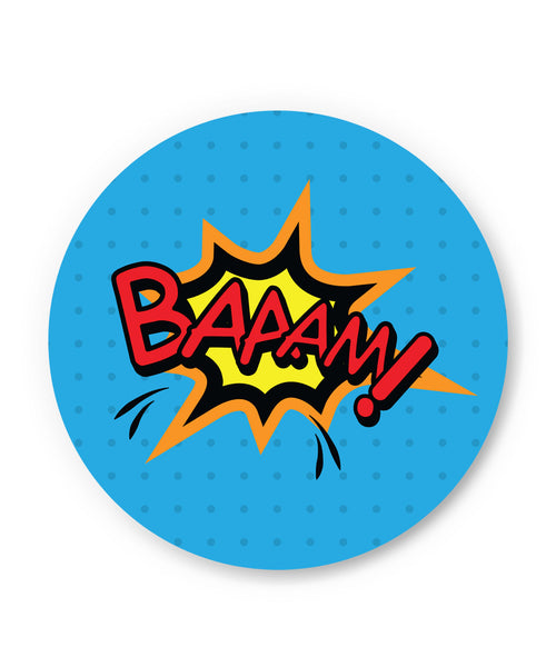 Baaam Comic Sound Quirky Illustration Fridge Magnet Online India