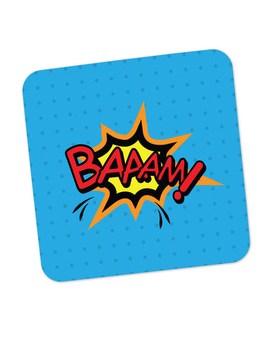 Baaam Comic Sound Quirky Illustration Coaster Online India