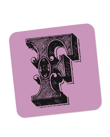 Coasters | Alphabet F Coaster 1013458329 Online India | PosterGuy.in