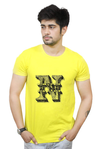 Buy Funny T-Shirts Online India | Alphabet N T-Shirt Funky, Cool, T-Shirts | PosterGuy.in