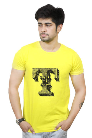Buy Funny T-Shirts Online India | Alphabet T T-Shirt Funky, Cool, T-Shirts | PosterGuy.in