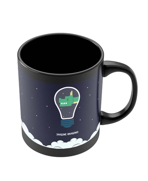 Black Coffee Mugs | Imagine Dragons Inspired Minimal Black Coffee Mug Online India