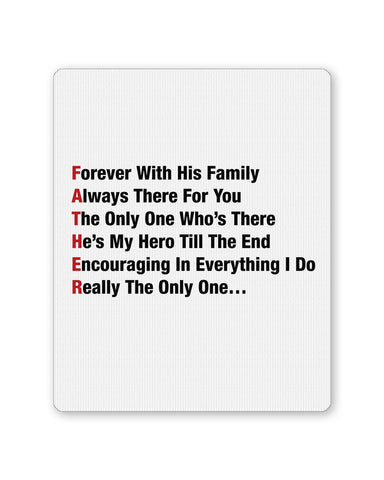 PosterGuy | Father's Day Typography Defination Mouse Pad 1013688216 Online India