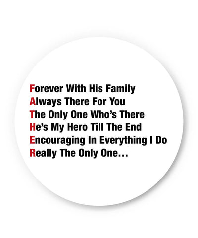 PosterGuy | Father's Day Typography Defination Fridge Magnet 1013688219 Online India