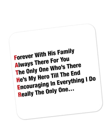 Coasters | Father's Day Typography Defination Coaster 1013688229 Online India | PosterGuy.in