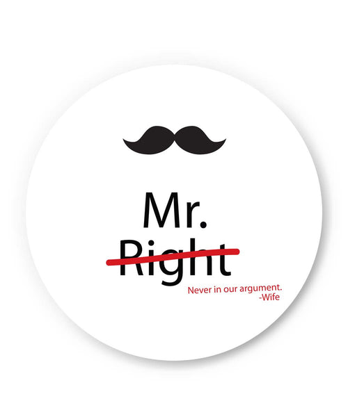 PosterGuy | Mr Right | Wife Quote Fridge Magnet 1013698319 Online India