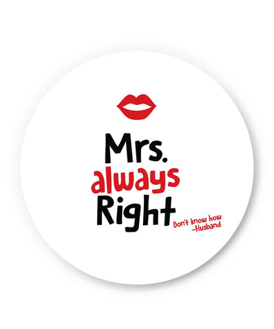 PosterGuy | Mrs Right | Husband Quote Fridge Magnet 1013708319 Online India