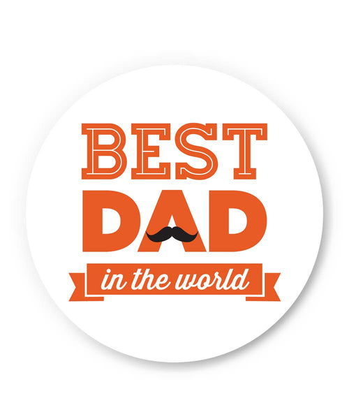 PosterGuy | Best Dad In The World Quote | Father's Day Fridge Magnet 1013748219 Online India