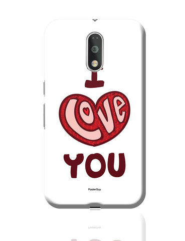 I Love You Red Valentine'S Day Moto G4 Plus Online India